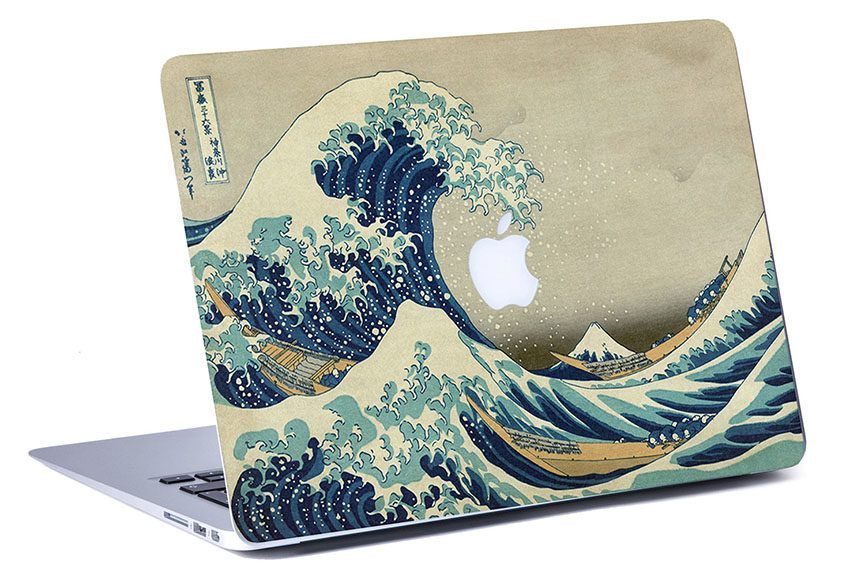 Wave Stickers for MacBook