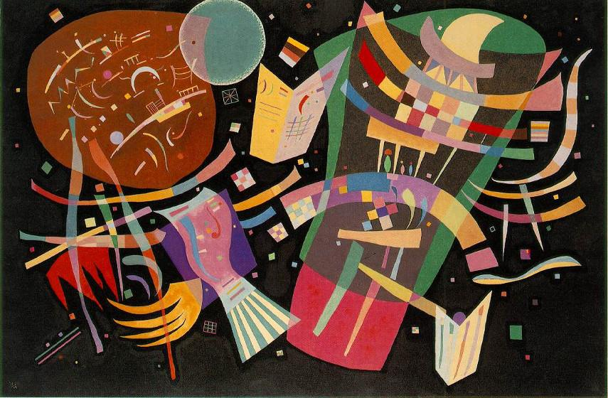 Wassily Kandinsky - Composition X, 1939 - abstract blue work forms style