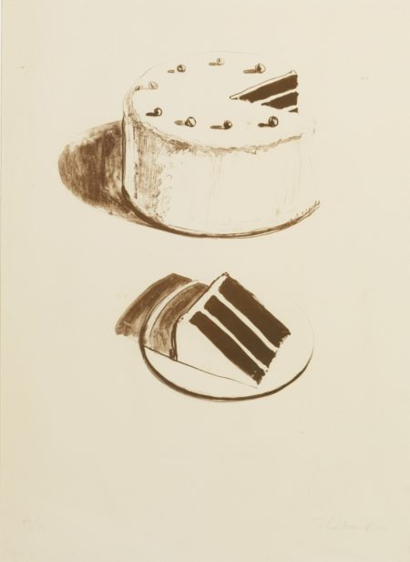 Wayne Thiebaud-Chocolate Cake (From Seven Still-Lifes And A Rabbit)-1971