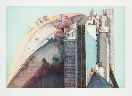 Wayne Thiebaud-Country City-1988