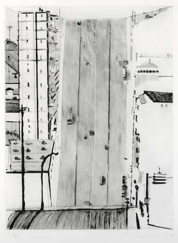 Wayne Thiebaud-Wide Downstreet-1985