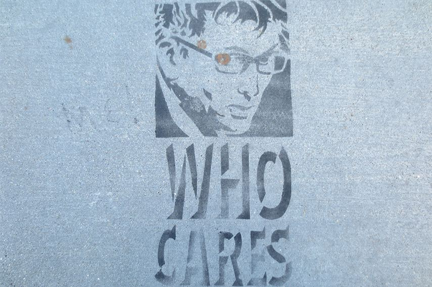 Who Cares Stencil canvas prints print wall poster help box add home