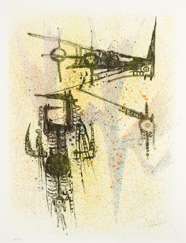 Wifredo Lam-Untitled, from Flight portfolio-1967