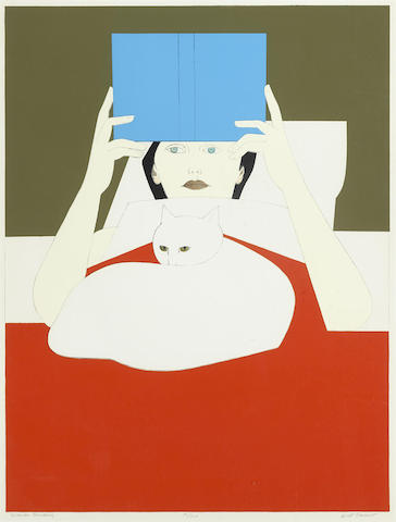 Will Barnet-Woman Reading-1970