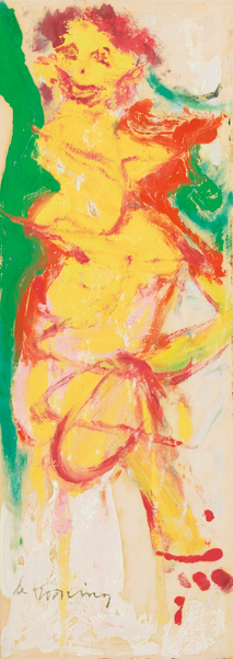 Willem de Kooning-Bewitched Woman-1965