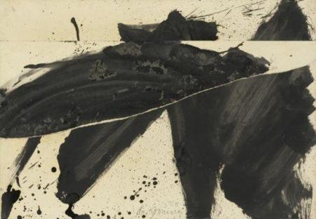 Willem de Kooning-Black And White Rome E-1959