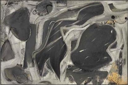 Willem de Kooning-Black and Gray Composition-1948