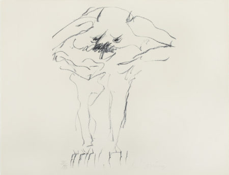 Willem de Kooning-Clam Digger (From Portfolio 9)-1966