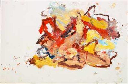 Willem de Kooning-Composition-1977