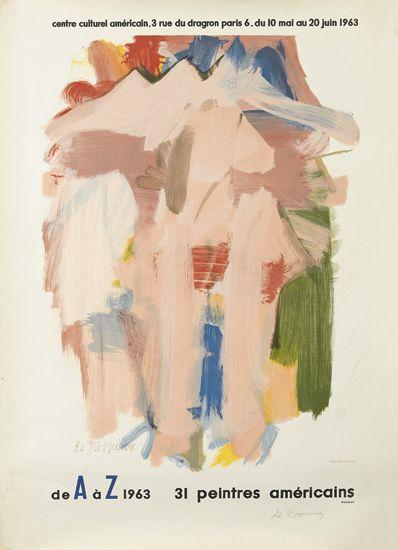 Willem de Kooning-DE A A Z 1963, 31 Peintres Americains-1963
