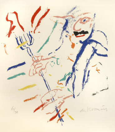 Willem de Kooning-Devil at the Keyboard-1972