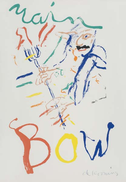 Willem de Kooning-Devil at the Keyboard, Rainbow-1976