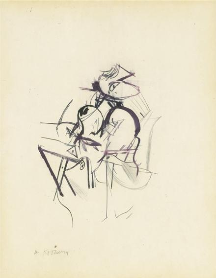 Willem de Kooning-Drawing No.5-1954