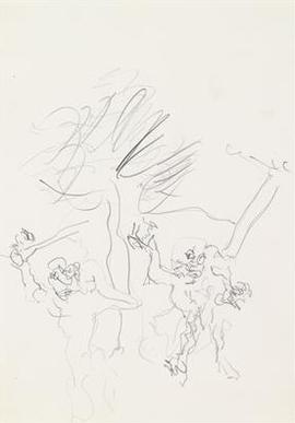 Willem de Kooning-Fall of a Man (Sundenfall)-1960