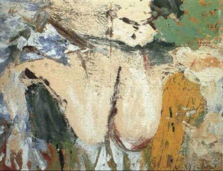 Willem de Kooning-Femme dans un paysage de moulin a eau-1966