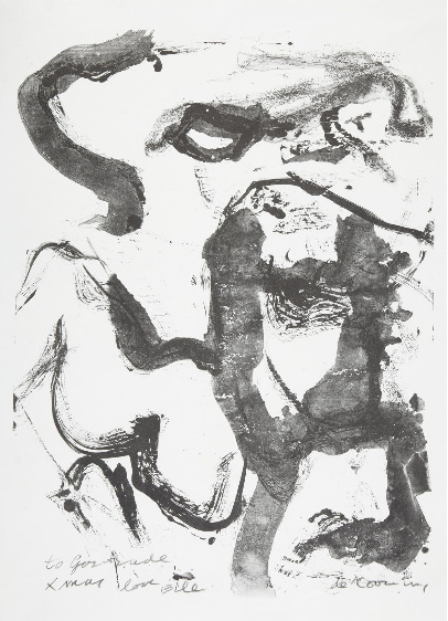Willem de Kooning-Figure at Gerard Beach-1971