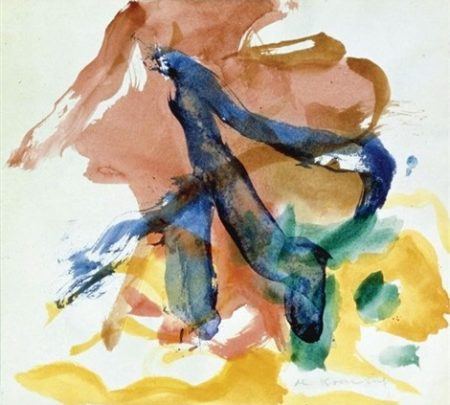 Willem de Kooning-Figure in Landscape-1970