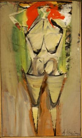 Willem de Kooning-Figure in Landscape I-1951