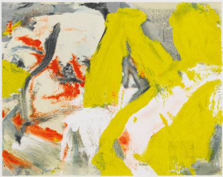 Willem de Kooning-Man and the Big Blonde-1982
