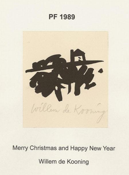 Willem de Kooning-PF 1989, Weihnachts und Neujahrskarte für das Jahr-1989