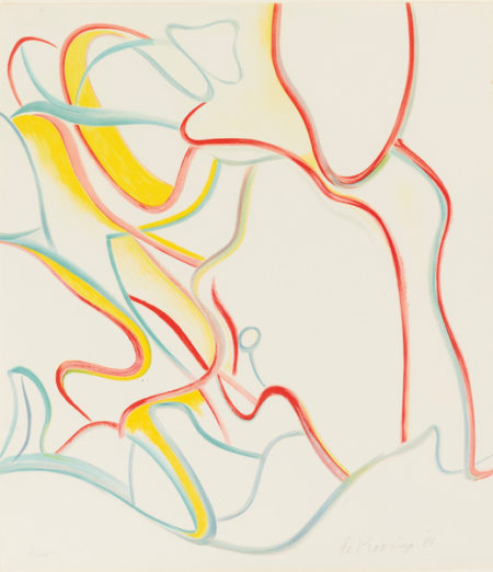 Willem de Kooning-Quatre Lithographie: One Plate-1986