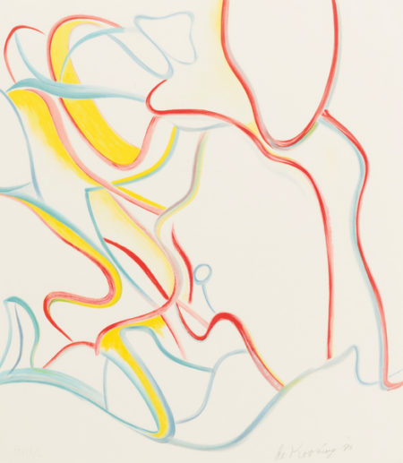 Willem de Kooning-Quatre Lithographies: One Plate-1986