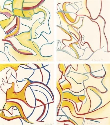 Willem de Kooning-Quatre Lithographies-1986