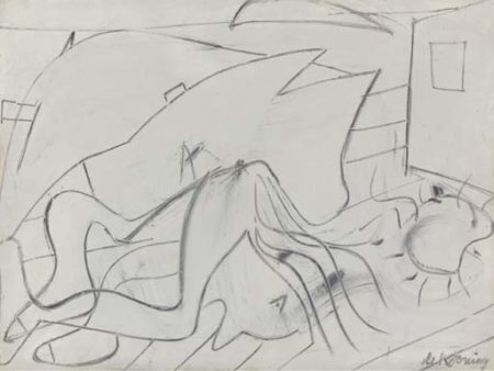 Willem de Kooning-Reclining Figure-1947