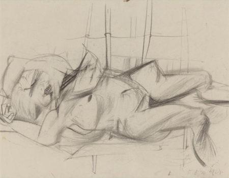Willem de Kooning-Reclining Woman-1951