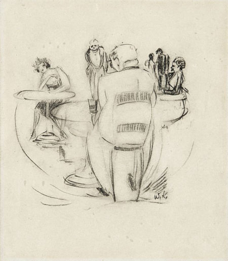 Willem de Kooning-Scéne de Café-1924