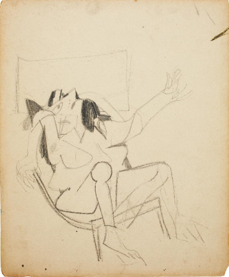 Willem de Kooning-Study for Seated Woman-1948