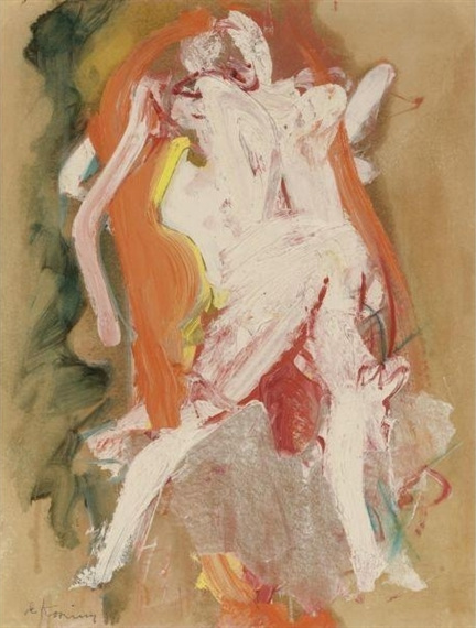 Willem de Kooning-Study of a Woman-1965