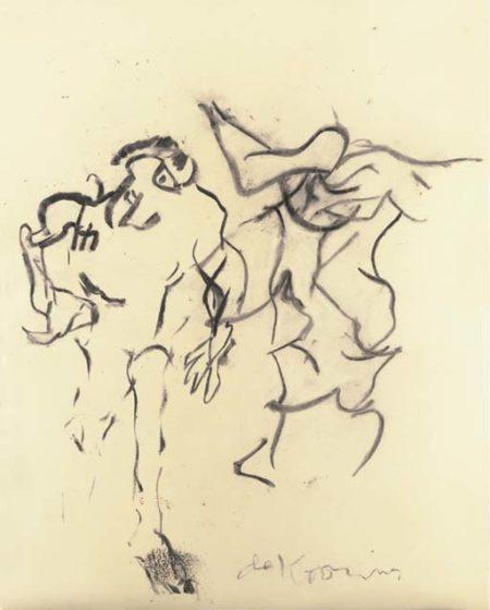 Willem de Kooning-Two Figures-1965
