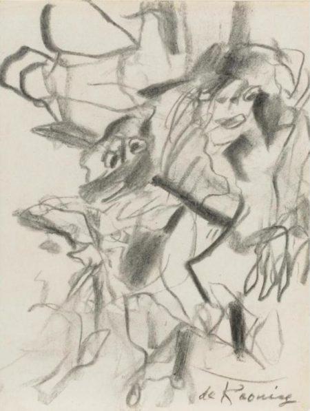 Willem de Kooning-Two Figures-1975