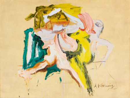 Willem de Kooning-Two Figures I-1968
