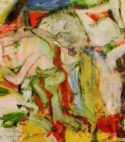 Willem de Kooning-Two Figures in Dunes-