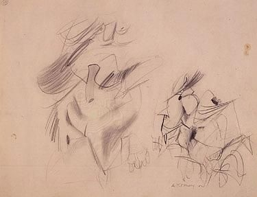 Willem de Kooning-Two Women-1955