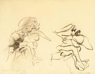 Willem de Kooning-Two figures-1971