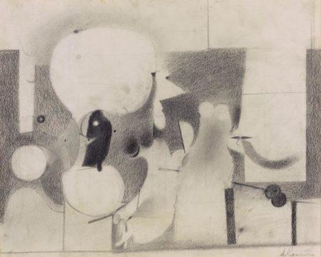 Willem de Kooning-Untitled (Head Drawing)-1939