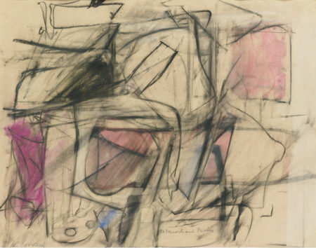 Willem de Kooning-Untitled (Abstract Drawing, Pastel and Charcoal)-1950