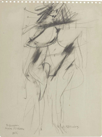 Willem de Kooning-Untitled (Woman Drawing)-1951