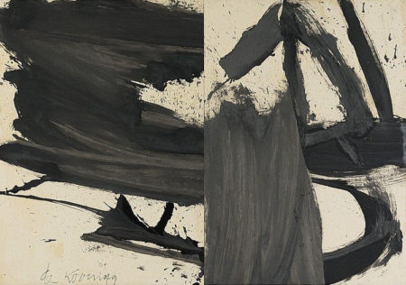 Willem de Kooning-Untitled (Black and White Painting)-1959