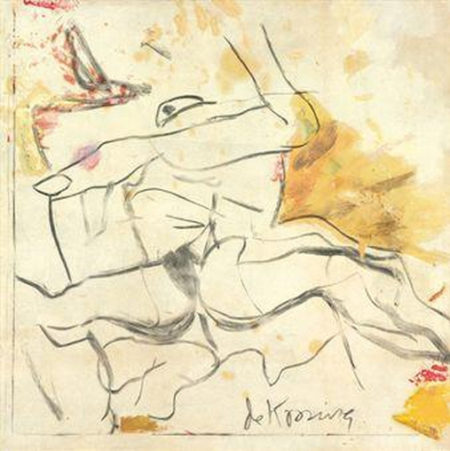 Willem de Kooning-Untitled (Woman Painting, Oil and Charcoal)-1960