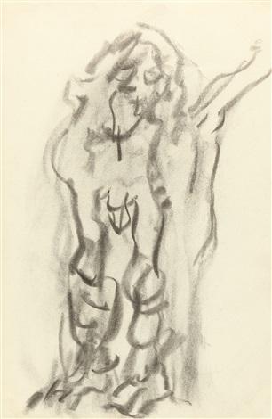 Willem de Kooning-Untitled (Drawing of Man)-1960