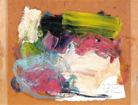 Willem de Kooning-Untitled (Green, Black, White and Light Blue Abstract Painting)-1960