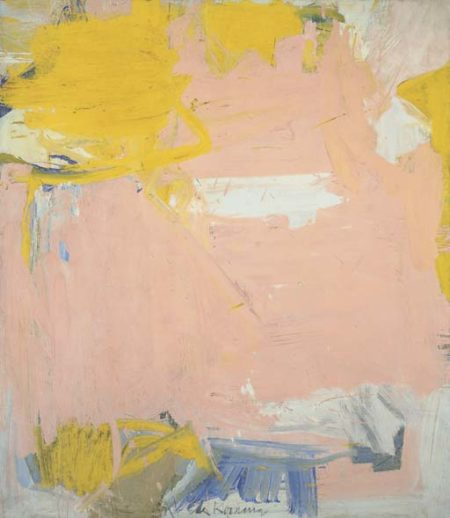 Willem de Kooning-Untitled (Pink and Yellow Abstract Painting)-1961