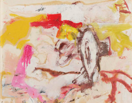 Willem de Kooning-Untitled (Painting with Pink, Yellow, Red and Brown Shapes)-1965
