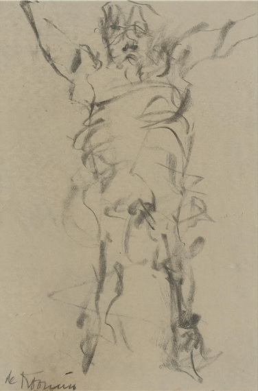 Willem de Kooning-Untitled (Figure Drawing, Pencil on Paper)-1965