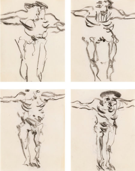 Willem de Kooning-Untitled (Four Drawings)-1966