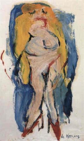 Willem de Kooning-Untitled (Blonde Woman)-1966